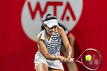 Nao Hibino of Japan competes against Samantha Stosur of Australia during the singles first round match at the WTA Prudential Hong Kong Tennis Open 2018 at the Victoria Park Tennis Stadium on 09 October 2018 in Hong Kong, Hong Kong. Photo by Yu Chun Christopher Wong / Power Sport Images
