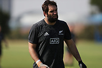 PRETORIA, SOUTH AFRICA - OCTOBER 05: Sam Whitelock during the Rugby Championship New Zealand All Blacks captain's run at St David's Marist Inanda in Sandown, South Africa on Friday, October 5, 2018. Photo: Steve Haag / stevehaagsports.com