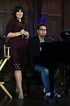 Kristen Anderson-Lopez and Robert Lopez attends the press day for 'Frozen' The Broadway Musical on February 13, 2018 at the Highline Hotel in New York City.