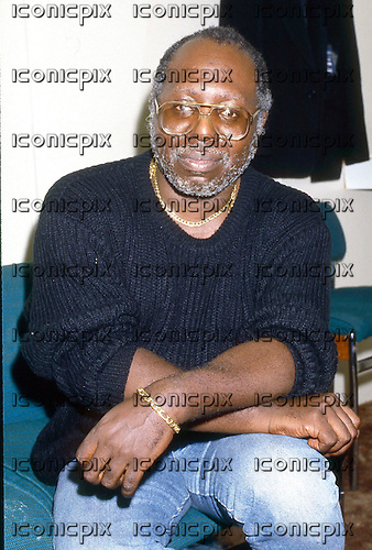 Curtis Mayfield (June 3, 1942 – December 26, 1999) - photographed backstage before making a special guest appearance with the Blow Monkeys at Hammersmith Odeon, London - 08 May 1987 - Photo credit: George Chin/IconicPix
