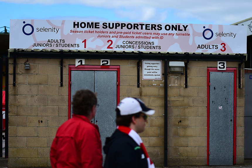 Lincoln City fans arrive at the ground<br /> <br /> Photographer Andrew Vaughan/CameraSport<br /> <br /> The EFL Sky Bet League Two - Lincoln City v Morecambe - Saturday August 12th 2017 - Sincil Bank - Lincoln<br /> <br /> World Copyright &copy; 2017 CameraSport. All rights reserved. 43 Linden Ave. Countesthorpe. Leicester. England. LE8 5PG - Tel: +44 (0) 116 277 4147 - admin@camerasport.com - www.camerasport.com
