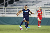Cary, NC - Saturday April 22, 2017: Debinha during a regular season National Women's Soccer League (NWSL) match between the North Carolina Courage and the Portland Thorns FC at Sahlen's Stadium at WakeMed Soccer Park.