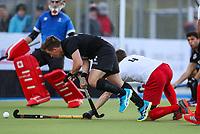 Mac Wilcox of the Blacksticks. International Hockey, Blacksticks men v Canada. Warkworth Hockey Turf, Warkworth, Auckland, New Zealand. Thursday 18 October 2018. Photo: Simon Watts/ Hockey NZ