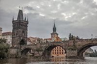 Charles Bridge is the dominant landmark in Prague