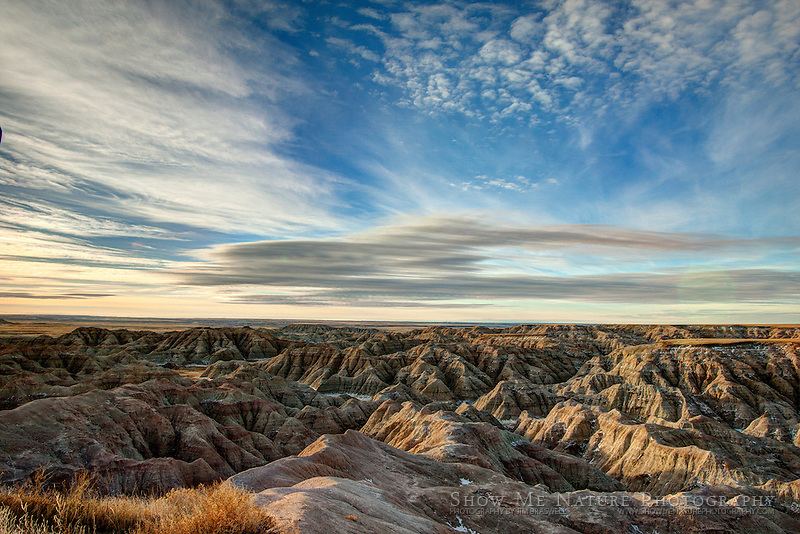 HDR photograph looking over the Badlands NP, South Dakota