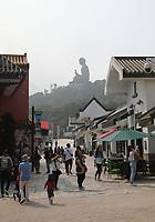 General views of the Tian Tan Buddha from Ngong Ping Village, Lantau Island, Hong Kong on 6.4.19.