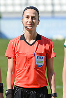 20190306 - LARNACA , CYPRUS : French assistant referee Elodie Coppola pictured during a women's soccer game between Slovakia and Hungary , on Wednesday 6 th March 2019 at the Antonis Papadopoulos stadium in Larnaca , Cyprus . This last game for both teams which decides for places 11 and 12 of the Cyprus Womens Cup 2019 , a prestigious women soccer tournament as a preparation on the Uefa Women's Euro 2021 qualification duels. PHOTO SPORTPIX.BE | DAVID CATRY