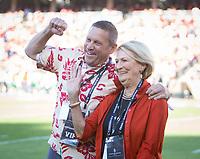 Stanford, CA - September 21, 2019: Bill Tarr Jr, Deanna Tarr at Stanford Stadium. The Stanford Cardinal fell to the Oregon Ducks 21-6.
