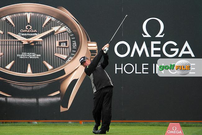 Miguel Angel Jimenez (ESP) on the 13th on Day 2 of the Omega European Masters 2012, Golf Club Crans-Sur-Sierre, Crans Montana, Switzerland, 31/8/12...(Photo Jenny Matthews/www.golffile.ie)
