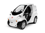 2017 Toyota COMS EV ultra-compact electric vehicle by Toyota Auto Body isolated on white background with clipping path Image © MaximImages, License at https://www.maximimages.com