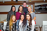 Katie Horan, Tralee (centre front) who celebrated her 22nd birthday in La Scala restaurant, Tralee on Saturday, pictured were front l-r: Claire Jordan, Katie Horan (birthday girl) with Sarah Hobbert. Back l-r: Kayleigh Quirke, Denise McKenzie Greg Horan and Rachel Greer.