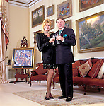 Ivana Trump and Ricardo Mazuchelli in their  London flat