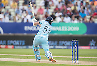 Jonny Bairstow (England) drives square offside to register the first boundary of the innings during Australia vs England, ICC World Cup Semi-Final Cricket at Edgbaston Stadium on 11th July 2019