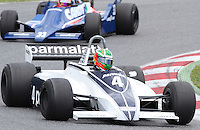22.04.2012 Barcelona, Spain. GP Masters. Pictures show driver Joaquim Folch ESP with Brabham BT49C at Circuit Catalunya