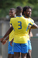 Chidubem Onokwai of Haringey scores and celebrates during Haringey Borough vs Corinthian Casuals, BetVictor League Premier Division Football at Coles Park Stadium on 10th August 2019