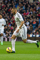 Real Madrid´s Karim Benzema during 2014-15 La Liga match between Real Madrid and Deportivo de la Coruna at Santiago Bernabeu stadium in Madrid, Spain. February 14, 2015. (ALTERPHOTOS/Luis Fernandez) /NORTEphoto.com
