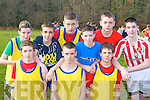 Abbeyfeale students from Colaiste Ide agus Iosef who participated in the Vocational Schools Cross Country championships in Killarney on Wednesday l-r: Cieran O'Donnell, Shane Kelleher, Shaun Palmer. Back row: Johnny Stack, Pa O'Connor, Francie O'Brien, Cillian O'Donoghue, John Sheehy and Eamon Dowling ..