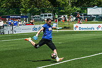 Kansas City, MO - Saturday May 13, 2017: Nicole Barnhart warming up prior to a regular season National Women's Soccer League (NWSL) match between FC Kansas City and the Portland Thorns FC at Children's Mercy Victory Field.