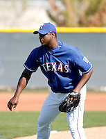 Frank Francisco - Texas Rangers - 2009 spring training.Photo by:  Bill Mitchell/Four Seam Images