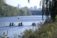 Canoeists on Thames River London Ontario Canada