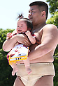 Baby crying sumo competition in Tokyo
