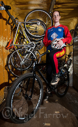 22 MAY 2015 - IPSWICH, GBR - 2012 European and British Individual Champion Lauren Jacobs of Ipswich Cycle Speedway Club pictured at the club's track at Whitton Sports and Community Centre in Ipswich, Suffolk, Great Britain (PHOTO COPYRIGHT © 2015 NIGEL FARROW, ALL RIGHTS RESERVED)