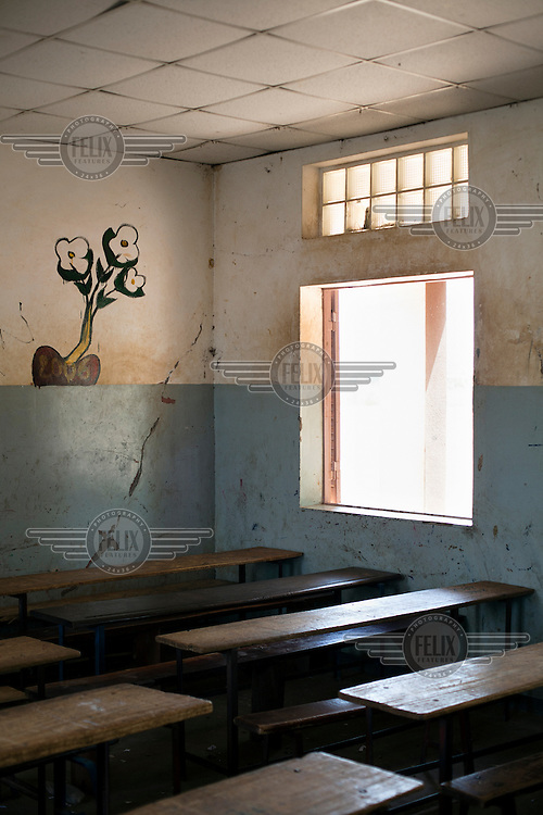 A classroom in the elementary school in the village of Fono, Segou.