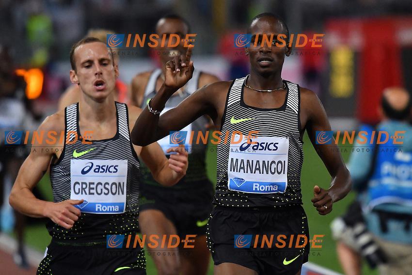Elijah Motonei MANANGOI ETH 1500m Men Winner <br /> Roma 02-06-2016 Stadio Olimpico <br /> IAAF Diamond League Golden Gala <br /> Atletica Leggera<br /> Foto Andrea Staccioli / Insidefoto