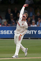 Simon Harmer of Essex in bowling action during Essex CCC vs Yorkshire CCC, Specsavers County Championship Division 1 Cricket at The Cloudfm County Ground on 7th July 2019