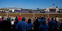 DEL MAR, CA - NOVEMBER 04: The horses walk to the starting gate on Day 2 of the 2017 Breeders' Cup World Championships at Del Mar Racing Club on November 4, 2017 in Del Mar, California. (Photo by Kyle Grantham/Eclipse Sportswire/Breeders Cup)