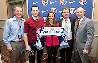 Frances Silva, Vlatko Andronovski, Huw Williams. The NWSL draft was held at the Pennsylvania Convention Center in Philadelphia, PA, on January 17, 2014.