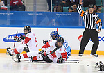Pyeongchang, Korea, 11/3/2018-Bryan Sholomicki of Canada plays Italy in hockey during the 2018 Paralympic Games in PyeongChang. Photo Scott Grant/Canadian Paralympic Committee.