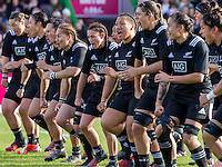 The Black Ferns Haka pre-match, England Women v New Zealand Women in an Old Mutual Wealth Series, Autumn International match at Twickenham Stoop, Twickenham, England, on 19th November 2016. Full Time score 20-25