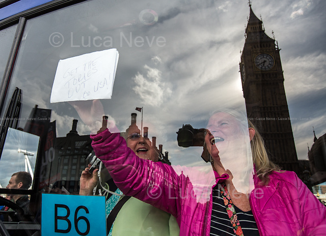 &quot; #ToriesOutNow - London&rsquo;s Protest Against Conservative Election Victory&quot;. <br />