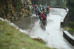 Another wet miserable day for the peleton during Stage 8 of the 2018 Paris-Nice running 110km from Nice to Nice, France. 11th March 2018.<br /> Picture: ASO/Alex Broadway | Cyclefile<br /> <br /> <br /> All photos usage must carry mandatory copyright credit (&copy; Cyclefile | ASO/Alex Broadway)