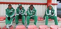 U17 : Belgian Red Flames - Nigeria <br /> <br /> van links naar rechts :  Ijeh Eluemunor Desire, Chika Edeh, Sandra Aernyi, Agams Nkechinyere<br /> <br /> foto Dirk Vuylsteke / Nikonpro.be