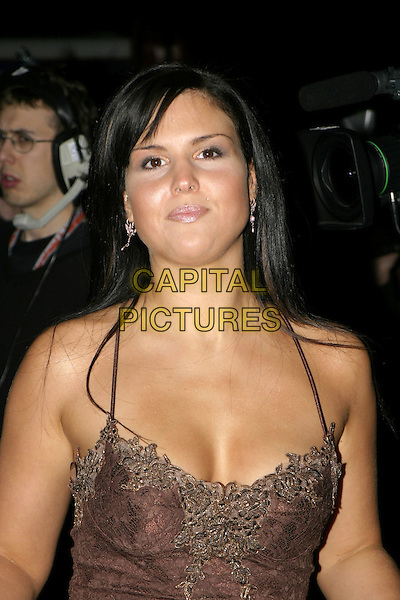 MICHELLE BASS  - BIG BROTHER.National TV Awards, Royal Albert Hall.October 26th, 2004.headhot, portrait, lace, piercing, cleavage.www.capitalpictures.com.sales@capitalpictures.com.© Capital Pictures.