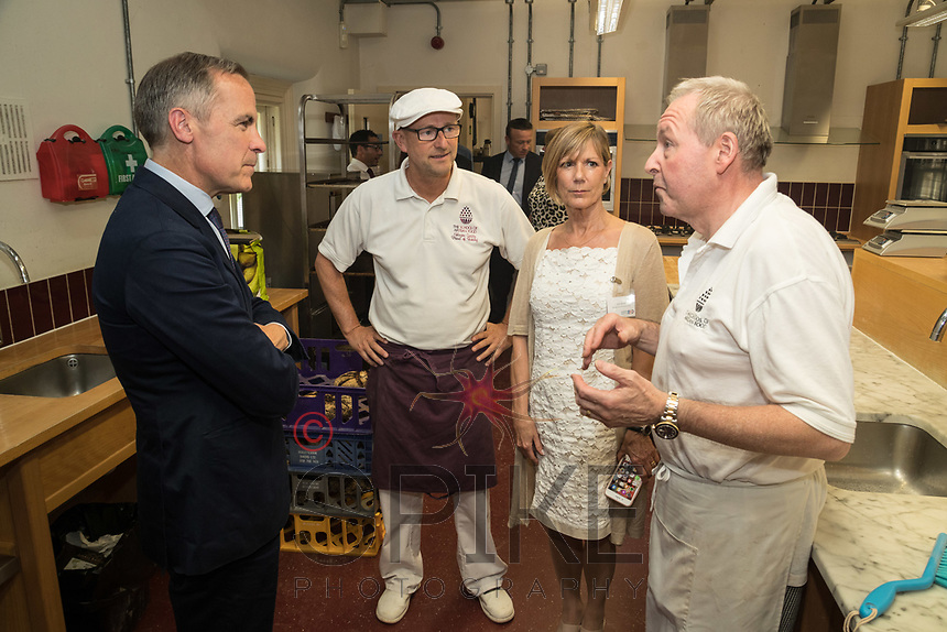 Mark Carney, Governor of the Bank of England with Wayne Caddy, Julie Byrne and David Carter of the School of Artisan Food
