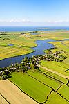 Nederland, Noord-Holland, Gemeente Amsterdam, 13-06-2017; dorpje Holysloot, gelegen in Landelijk Noord. Dorpsstraat en Holysloter Die. Marken in de achtergrond.<br /> The small village Holysloot, north of Amsterdam in rural area.<br /> luchtfoto (toeslag op standaard tarieven);<br /> aerial photo (additional fee required);<br /> copyright foto/photo Siebe Swart