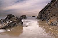 an incoming storm along Gaviota Coast one winter Morning, at Gaviota state beach, Gaviota California