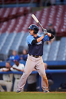 Trenton Thunder center fielder Dustin Fowler (10) at bat during the second game of a doubleheader against the Hartford Yard Goats on June 1, 2016 at Sen. Thomas J. Dodd Memorial Stadium in Norwich, Connecticut.  Trenton defeated Hartford 2-1.  (Mike Janes/Four Seam Images)