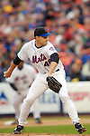 3 April 2006: Aaron Heilman, pitcher for the New York Mets, on the mound during Opening Day play against the Washington Nationals at Shea Stadium, in Flushing, New York. The Mets defeated the Nationals 3-2 to lead off the 2006 MLB season...Mandatory Photo Credit: Ed Wolfstein Photo..