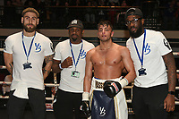 Yaser Al Ghena (white shorts) defeats Dale Arrowsmith during a Boxing Show at York Hall on 3rd March 2018