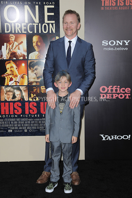 WWW.ACEPIXS.COM<br /> August 26, 2013...New York City <br /> <br /> Morgan Spurlock attends the world premiere of 'One Direction: This Is Us' at the Ziegfeld Theater on August 26, 2013 in New York City.<br /> <br /> Please byline: Kristin Callahan... ACEPIXS<br /> Ace Pictures, Inc: ..tel: (212) 243 8787 or (646) 769 0430..e-mail: info@acepixs.com..web: http://www.acepixs.com