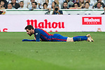Leo Messi of FC Barcelona during the match of La Liga between Real Madrid and Futbol Club Barcelona at Santiago Bernabeu Stadium  in Madrid, Spain. April 23, 2017. (ALTERPHOTOS)