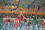 Action from the Division 1 Mens Final at the St Mary's basketball blitz in Castleisland Community Centre on Tuesday