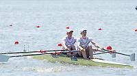 Brandenburg. GERMANY. GBR W2-. Bow Latherine GRAINGER and Victoria THORNLEY.<br /> 2016 European Rowing Championships at the Regattastrecke Beetzsee<br /> <br /> Friday  06/05/2016<br /> <br /> [Mandatory Credit; Peter SPURRIER/Intersport-images]