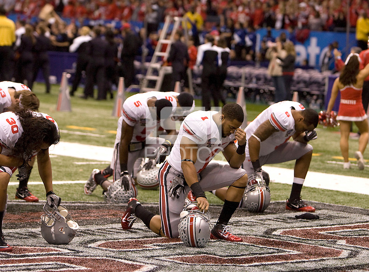 77th Annual Allstate Sugar Bowl Classic between Ohio State and Arkansas at Louisiana Superdome in New Orleans, Louisiana on January 4th, 2011.  Ohio State defeated Arkansas, 31-26.
