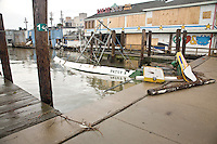 A ship sank where it was moored, Port of Galveston.