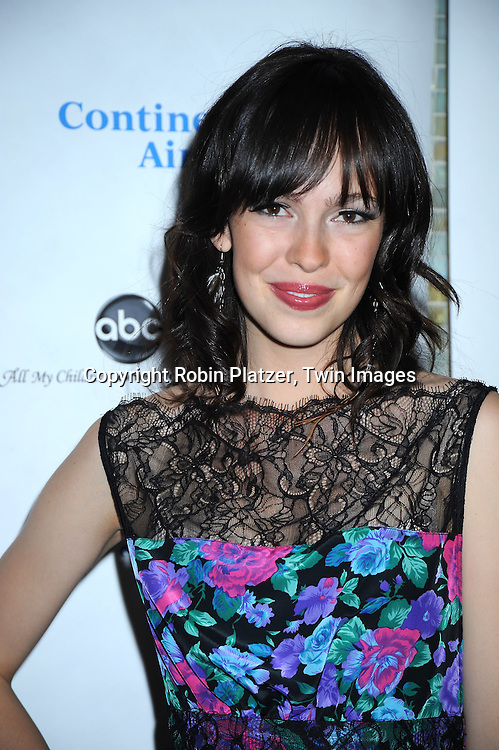 actress Brittany Allen of All My Children attending The 6th Annual ABC And SOAPnet salute to BROADWAY CARES/ EQUITY FIGHTS AIDS Benefit post party on March 21, 2010 at The Marriott Marquis Hotel in New York City.